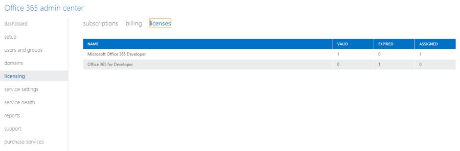 Office Subscription Screenshot