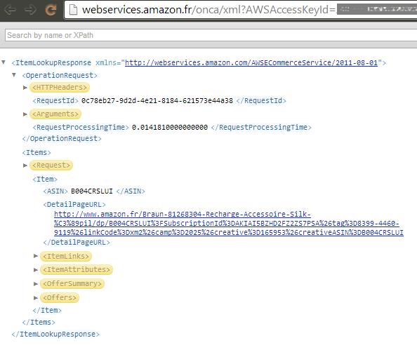 Amazon API - Response
