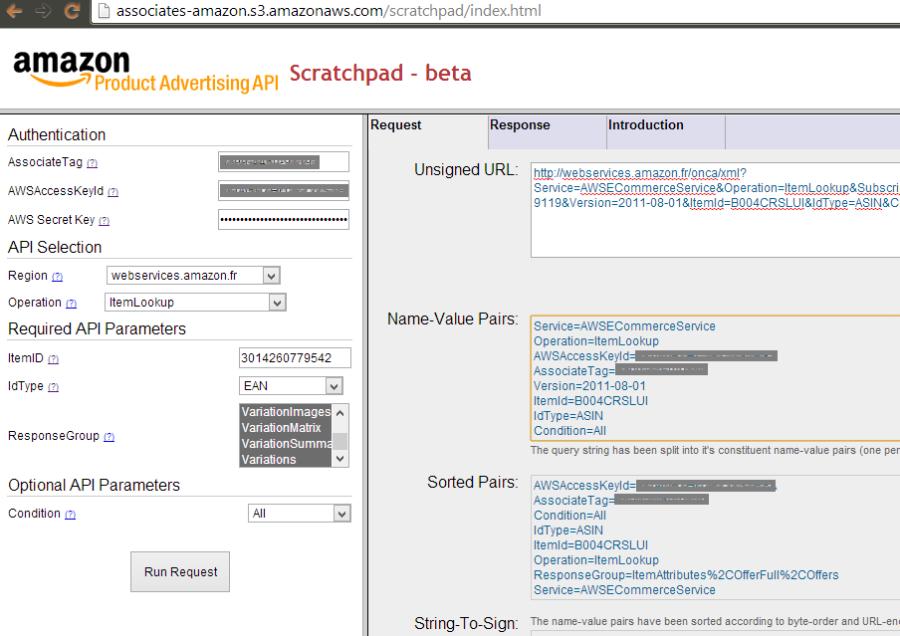 Amazon API - ScratchPad