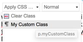 Custom Class in Sitecore RTE Dropdown