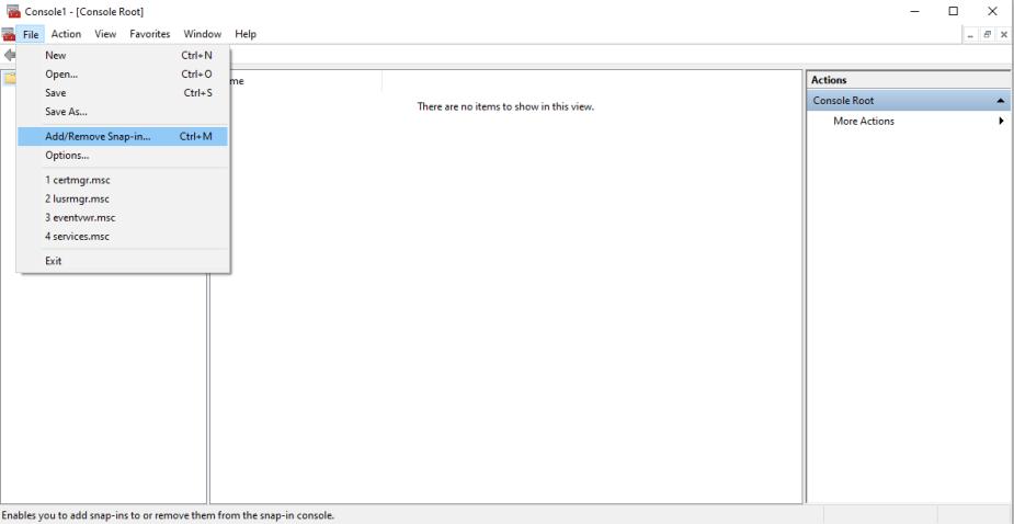 screenshot20-20sitecore20certificates20-20add20snap-in